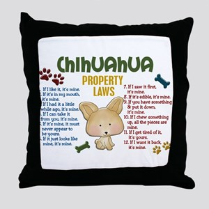 Chihuahua Property Laws 4 Throw Pillow