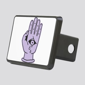 Hands Eye jesus Crying sti Rectangular Hitch Cover