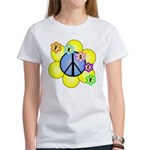 Peace Blossoms /blue Women's T-Shirt