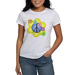 Peace Blossoms /blue Women's T-Shirt
