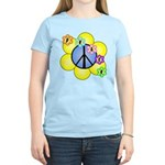 Peace Blossoms /blue Women's Light T-Shirt