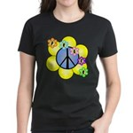 Peace Blossoms /blue Women's Dark T-Shirt