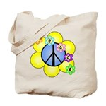 Peace Blossoms /blue Tote Bag