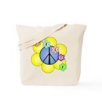 Peace Blossoms /blue Tote Bag