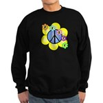 Peace Blossoms /blue Sweatshirt (dark)