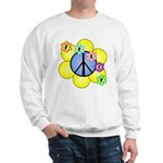Peace Blossoms /blue Sweatshirt