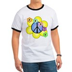 Peace Blossoms /blue Ringer T