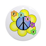 Peace Blossoms /blue Ornament (Round)