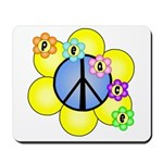 Peace Blossoms /blue Mousepad