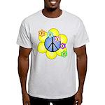 Peace Blossoms /blue Light T-Shirt