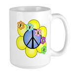 Peace Blossoms /blue Large Mug