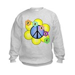 Peace Blossoms /blue Kids Sweatshirt