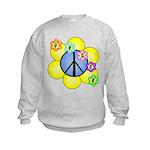 Peace Blossoms /blue Kids Sweatshirt
