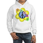 Peace Blossoms /blue Hooded Sweatshirt