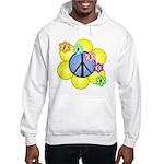 Peace Blossoms /blue Hooded Sweatshirt