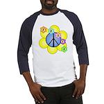 Peace Blossoms /blue Baseball Jersey
