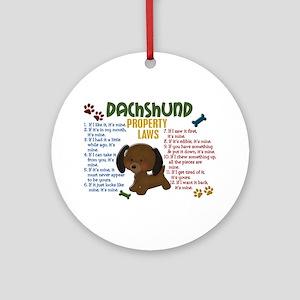 Dachshund Property Laws 4 Ornament (Round)