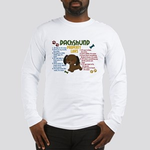 Dachshund Property Laws 4 Long Sleeve T-Shirt
