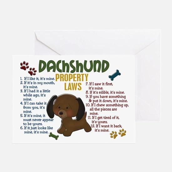 Dachshund Property Laws 4 Greeting Card