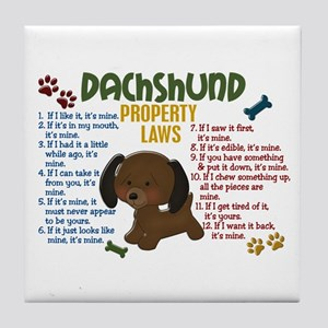 Dachshund Property Laws 4 Tile Coaster