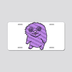 Magical Fuzz Beast Purple Aluminum License Plate