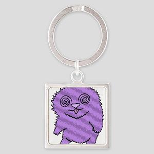 Magical Fuzz Beast Purple Keychains