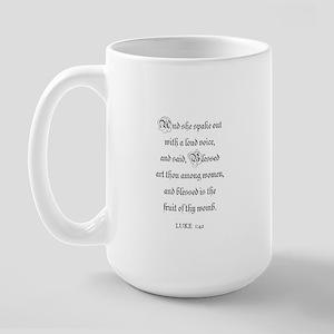 LUKE  1:42 Large Mug