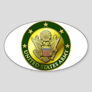 Army Green Logo Oval Sticker