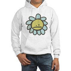 Sad Blue Flower Cartoon Hoodie