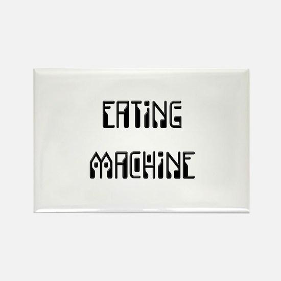 Eating Machine Black Rectangle Magnet