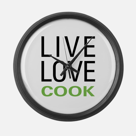 Live Love Cook Large Wall Clock