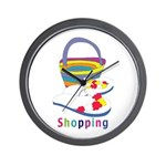 Shopping Wall Clock