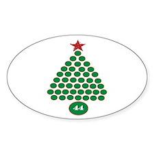 oddFrogg Obama Christmas Oval Sticker