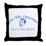A 15 Year Old Girl Throw Pillow