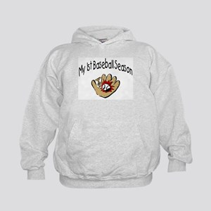 My First Baseball Season Kids Hoodie