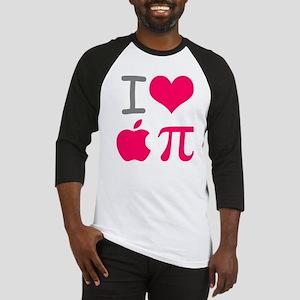 I Love Apple Pi T Shirt Baseball Jersey