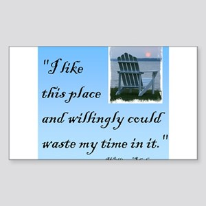 I like this place (2) Rectangle Sticker 10 pk)