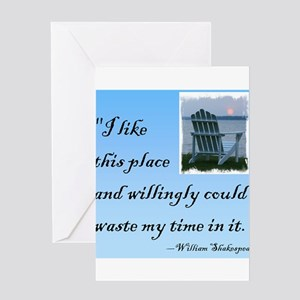 I like this place (2) Greeting Card
