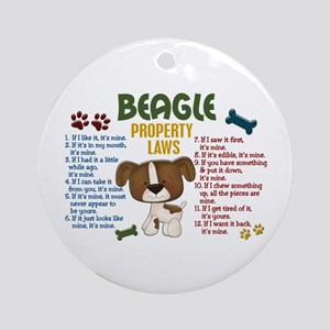 Beagle Property Laws 4 Ornament (Round)