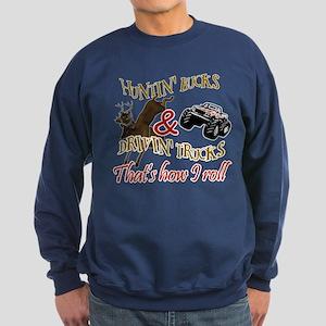 Drivin' Trucks & Huntin' Bucks Sweatshirt (dark)