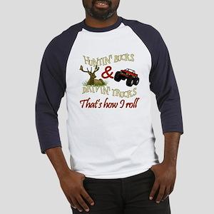 Drivin' Trucks & Huntin' Bucks Baseball Jersey