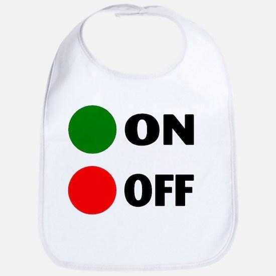 On Off Button Bib