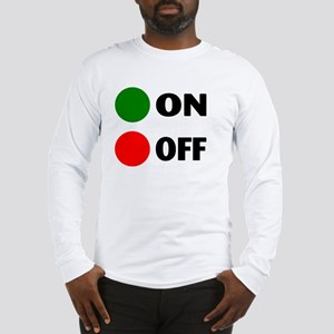 On Off Button Long Sleeve T-Shirt