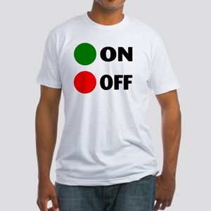 On Off Button Fitted T-Shirt