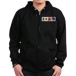 Multi Sport Gal Zip Hoodie (dark)