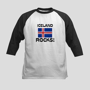 Iceland Rocks! Kids Baseball Jersey
