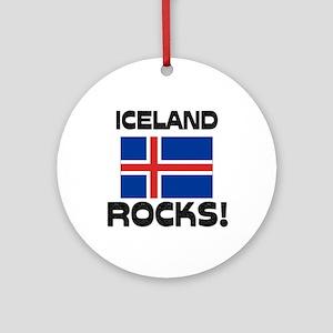 Iceland Rocks! Ornament (Round)