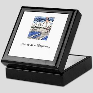 """Moses Lifeguarding"" Humor Keepsake Box"