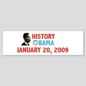 History Obama January 20, 2009 Bumper Sticker