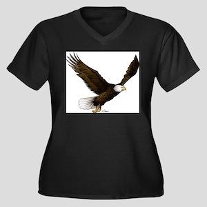 American Eagle Women's Plus Size V-Neck Dark T-Shi